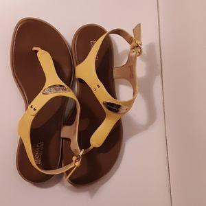 Michael Kors Yellow Sandals size 9m